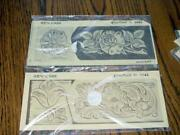 2 Vintage Craftaid 2643 And 2683 Leather Craft Templates For Key-case 's New