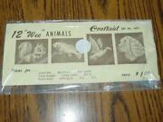 Vintage Craftaid Set 5001 - Leather Craft Template 12 Wee Animals New