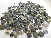 Large Lot All Shades Of Grey Vintage Buttons Coat Dress Glass Plastic Approx 300