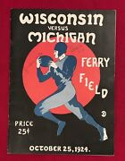 Antique 1924 Michigan Vs Wisconsin Football Program Early Old College Vintage