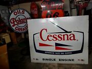 Old Cessna Airplane Sale And Service .see Porcelain Neon Signs For Casejohn Deere