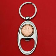 Us 1943 2020 Lincoln 1 Cent Key Chain Ring Silver Bottle Opener - Lucky Penny