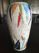 Outrageously Beautiful Bitossi Italian 11andrdquo Hand Thrown Volcanic Glaze Vase