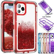 For Iphone 11 Pro Max Defender Liquid Glitter Shockproof Case Fit Otterbox Clip