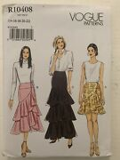 Vogue R10408 Sewing Pattern Plus Fitted Lined Wrap Skirts Size 14-22
