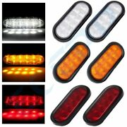 6x 10 Led 6 Inch Red White Amber Turn Red Stop Tail Lights Sealed Kits