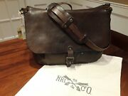 Rrl Vintage Distressed Made In Italy Leather Mailbag Bag - Nwt
