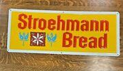 1970and039s Stroehman Bread Embossed Painted Metal Sign Make An Offer