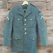 Vintage Us Army Green Dress Jacket Coat World War Two Wwii 3rd Armored Sz 35r