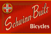 24 X 16 Reproduced Vintage Schwinn Bicycle Sign On Graphic Canvas