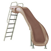 S.r. Smith 610-209-58110 Rogue2 Slide Right Curve Taupe 8and039 Ft For Swimming Pools