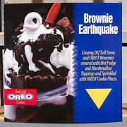 Dairy Queen Promotional Poster For Backlit Menu Sign Oreo Brownie Eathquake Dq2