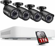 Zosi 5mp 2k Cctv Hdmi Dvr Extreme Home Outdoor Security Camera System 1tb Hdd