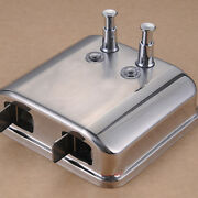 750ml X 2 Stainless Steel Soap Dispenser Lotion Pump Action Wall Mounted