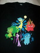Disney Vacation Club Dvc Member Cruise Pixar Inside Out 2015 T Shirt Xl 2 Sided