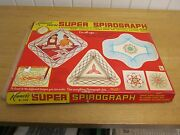 1969 Kenner Super Spirograph Drawing Toy Set No. 2400 Blue Tray Design Book