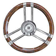 C Root Coated Steering Wheel Laquered/ss 350 Mm - 1 Pz Osculati 45.137.06 - 451