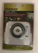 Stanley Timeit Twin 2 Outlet Daily Mechanical Timer Tm425 Brand New-ships N 24hr