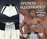 1950s Floyd Patterson Fight Worn Everlast Boxing Trunk From Patterson Estate Loa
