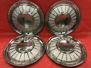 Vintage Set Of 4 1961andndash62 Ford 14andrdquo Hubcaps Thunderbird Fomoco Good Condition