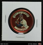 1964 Topps Coins 149 Hank Aaron - All-star Braves 5 - Ex