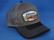 Nichols And Shepard Steam Tractor Hat - Black/white/charcoal Twill And Mesh