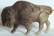 Buffalo Bison Celluloid Blow-molded Toy Viscoloid Co. Wow