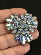 Sherman Iridescent Blue Brooch .super Colour And Condition