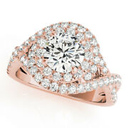 1.65 Ct Round Moissanite Forever One Halo Wrap Pave Band Engagement Wedding Ring