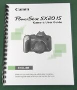Canon Powershot Sx20 Is Instruction Manual Comb Bound And Protective Covers