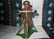 Rare Lead Toy Military Soldier With Range Finder Tool Special 50 Off