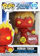 Funko Pop Marvel Human Torch Glow-in-the-dark Exclusive Collector Corps