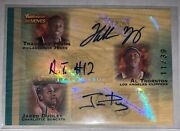 2007 Topps Trademark Moves Ink Triple 11/39 T. Young/thornton/dudley Rookie Auto