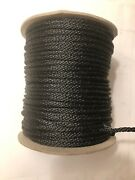 250andrsquo 5/32 Dacron Black Polyester Rope Antenna Support/guy Marine Made In Usa