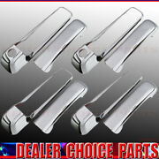 For 2009-2018 Ram 1500 10-18 Ram 2500 3500 4dr Chrome Door Handle Covers W/pskh