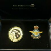 2012 New Zealand Air Force Rznaf 75 Year 1 Oz Silver Coin And Pin Set W/ Box And Coa