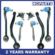 8pc Front L R Control Arms Tie Rod Ball Joint Links Fit For Bmw E53 X5 2000-2006