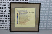 Michael Gilbert Hand Painted Calligraphy Comes The Dawn Signed/framed
