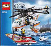 Lego City 60013 Coast Guard Helicopter Complete Used, No Box