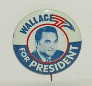 Vintage George Wallace For President Eagle Political Campaign Pinback Button