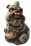 Cute Porcelain Dog Oil Container Bottle Figurine 7 In. Russian Gzhel Mk Offer