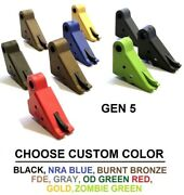 Tango Down Flat-faced Carry Trigger For All Glock Gen 5 Models Custom Coated