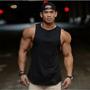 Menand039s Sport Muscle Tank Top T Shirt Fitness Vest Gym Tee Summer Workout Chic B