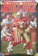 Sealed Vintage Starline Nfl Football Jerry Rice San Francisco 49ers Poster 23x35