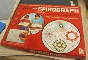 1967 Kenner Spirograph Drawing Toy Set No. 401 Blue Tray Design Book Complete