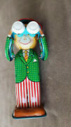 Vintage Tin Toy. Mechanical Monkey With Field Glass. Made In Japan. 5.75 Tall.