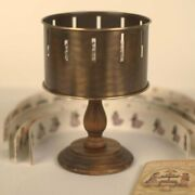 Classic Brass Zoetrope Optical Toy Replica - Zootrope Wheel Of Life Animation