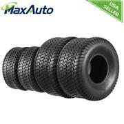 Maxauto 15x6-6 Front And 20x10-8 Rear /4pr Lawn Mower Turf Tires Tubeless