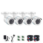 Zosi 4x 2mp Hd Waterproof Bullet Security Camera Cctv 80ft Night Vision System