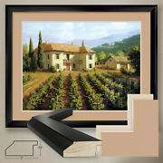 40wx32h Tuscan Vineyard By Roger Williams - Double Matte Glass And Frame